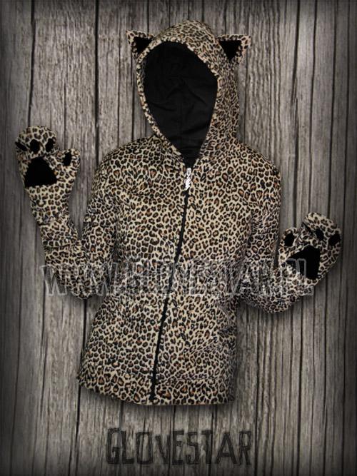 bluza kotek panterka + łapki