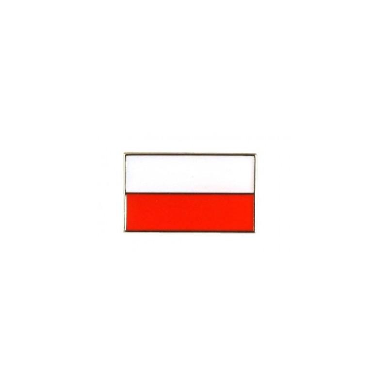 Przypinka orzel mini, flaga prosta, krzyz