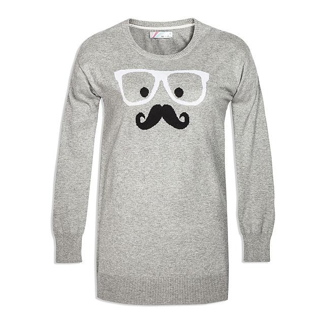 Sweter wąsy CROPP