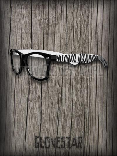 Okulary NERD zebra :: glovestar