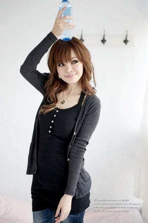 Grafitowy sweterek Japan Style