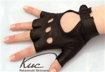 Skórzane rękawiczki bez palców