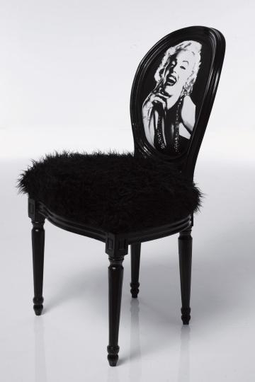 Krzesło Louis Marylin Czarne