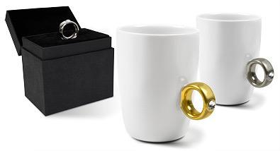 2 karatowy kubek - srebrny pierścionek