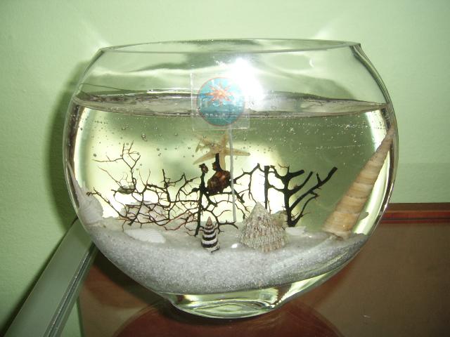 Żelowa świeczka - akwarium