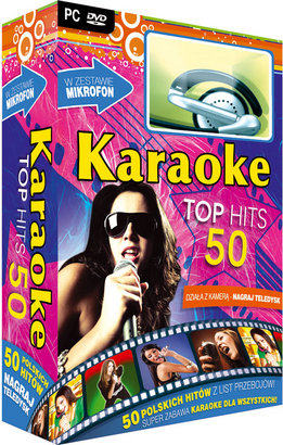 Karaoke Top Hits 50 z mikrofonem