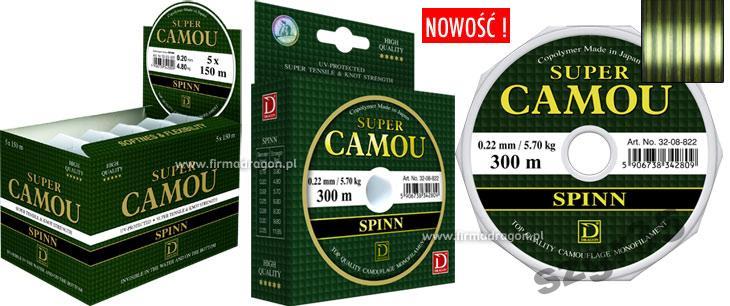 ŻYŁKA DRAGON SUPER CAMOU SPINN - 0,30mm/300m