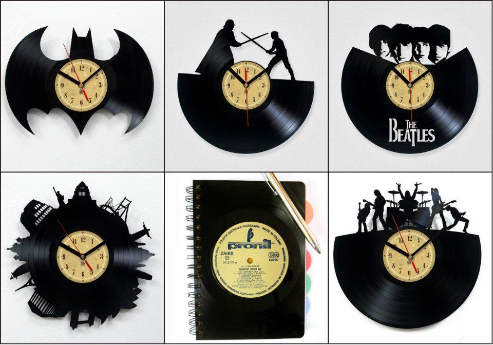 Zegar z płyty winylowej