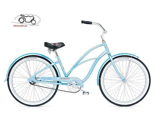 Błękitny rower Elektra Hawaii