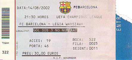 bilet na mecz Barcelony