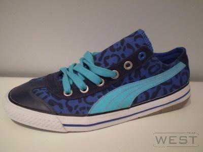 trampki puma - leopard niebieskie