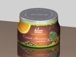 Peeling Czekolada-Pomarańcza z dodatkiem Kawy