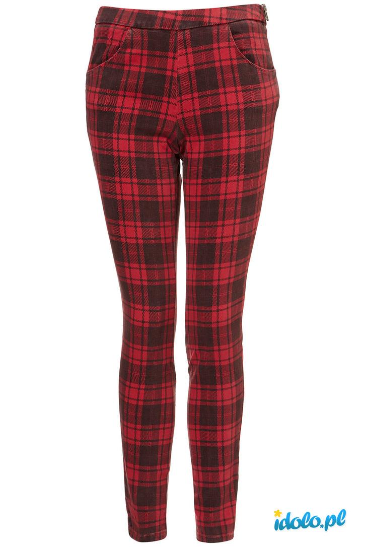 spodnie rurki w krate