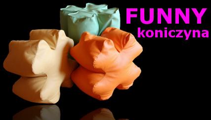 kolorowe pufy dla dzieci - FUNNY Koniczyna na szczęście