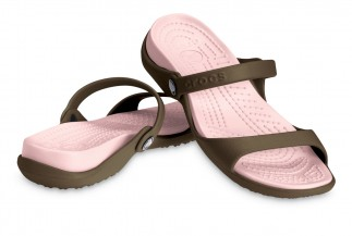 Crocs Cleo - romiar W9 - kolor choco-cotton lub turquise-sea foam lub pearl-cellery