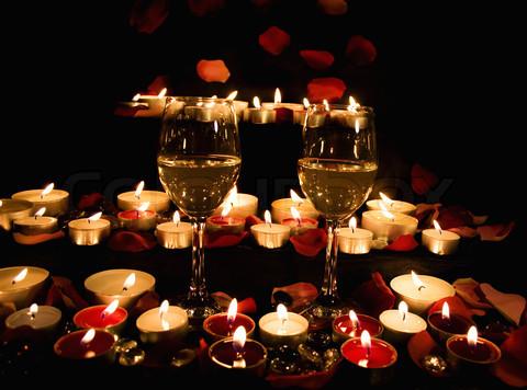 Bardzo romantyczny wieczór