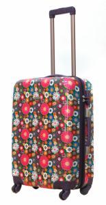 Średnia kolorowa walizka Travelite Magic, KWIATY