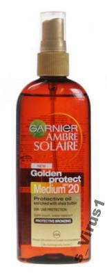 Garnier Ambre Solaire, Olejek do opalania SPF20