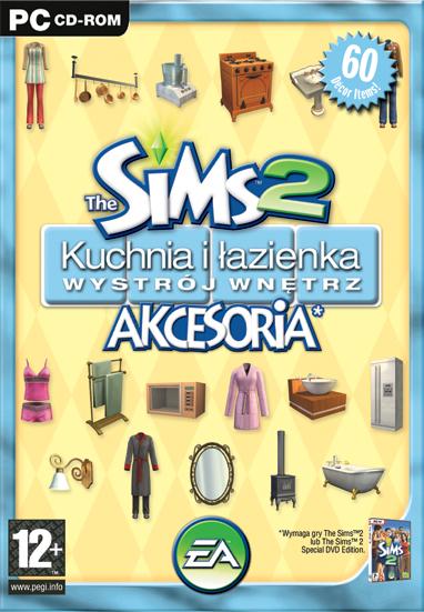 Sims2 Kuchnia i łazienka akcesoria