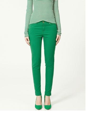 Spodnie rurki zielone