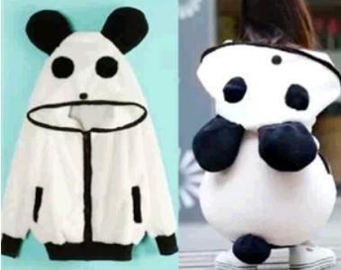 Bluza PANDA, biała z uszami