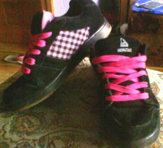 super buty czarno różowe
