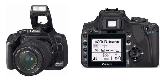 lustrzanka cyfrowa Canon EOS 400D