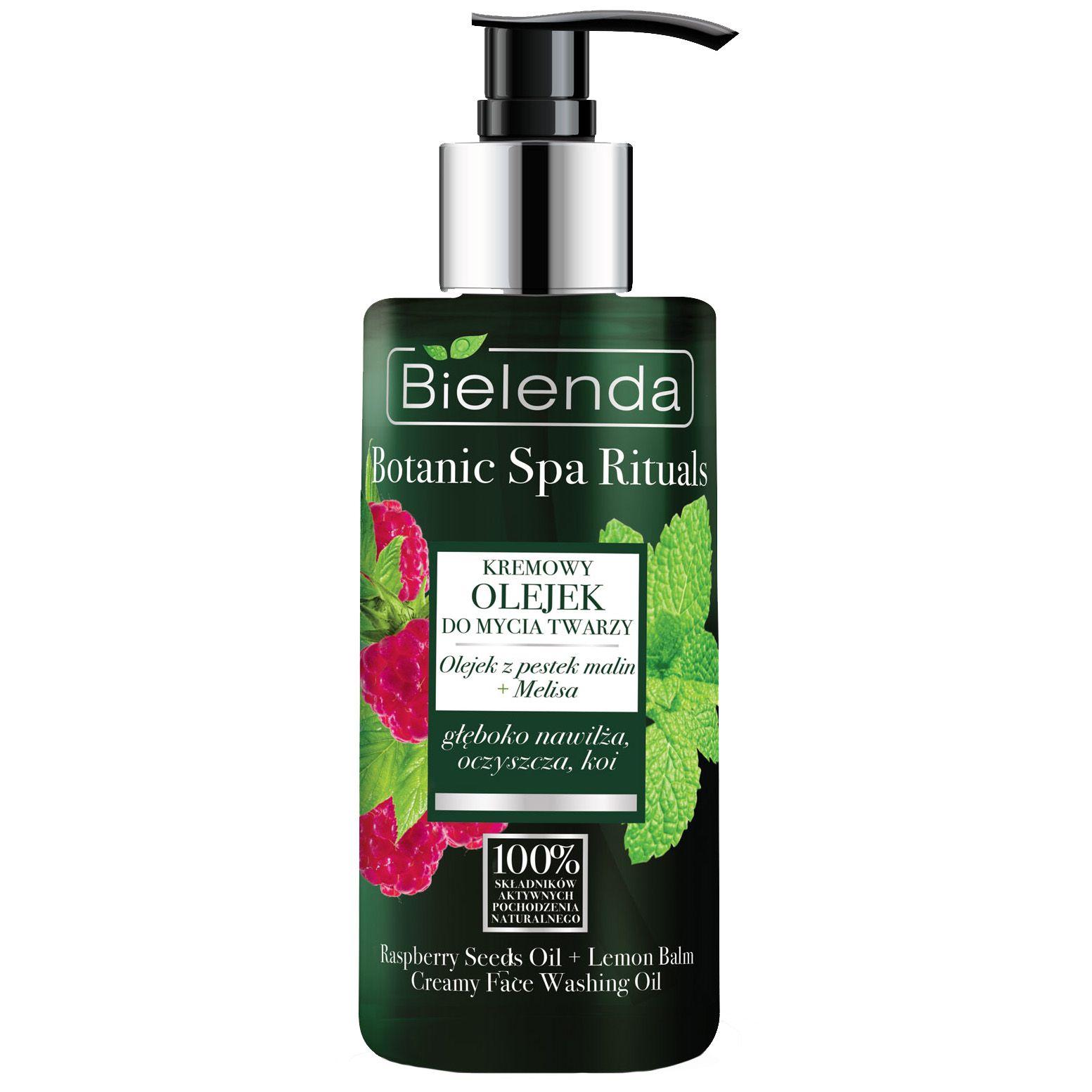 Kremowy olejek do mycia twarzy BIELENDA BOTANIC Malina + Melisa