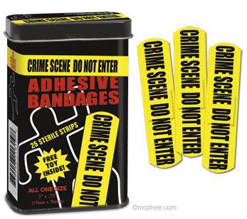 crime scene plastry