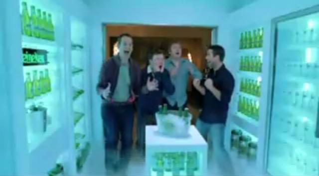 Spiżarnia piwa jak w reklamie Heinekena :D