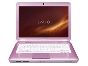 Laptop Sony VGN-CS21S/P Coral Pink - różowy