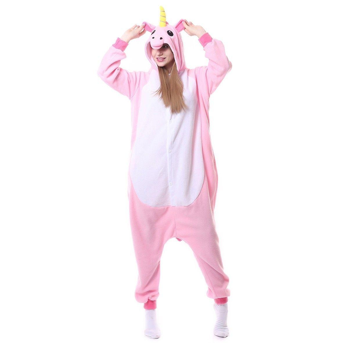 Różowa piżama (onesie) z jednorożcem, rozmiar L