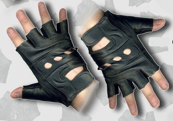 Rękawice skórzane bez palców