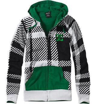dc shoes pop plaid reversible hoodie