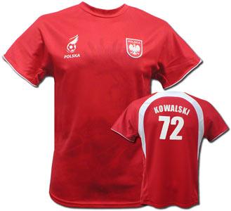 replika koszulki POLSKA-HUSARIA-Czerwona (NAZWISKO + NUMER )
