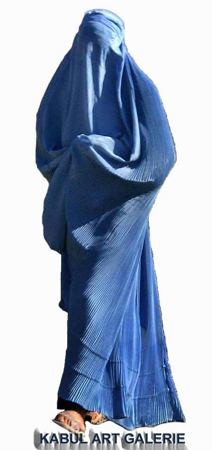 Burka lub nikab / jako dekoracja