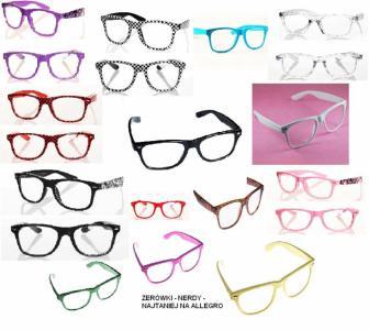 Okulary nerdy,kujonki..kolorowe