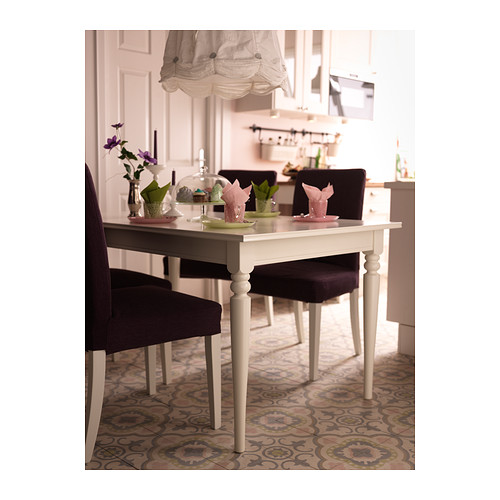 INGATORP Stół rozkładany, biały