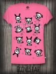 SKELANIMALS koszulka pink | GLOVESTAR punk rock sklep skelanimals emo ciuchy hello kitty scene ubrania piercing shop