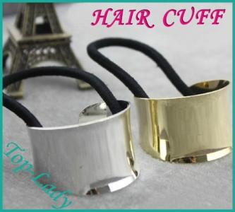 Gumka do włosów metalowa hair cuff z-s
