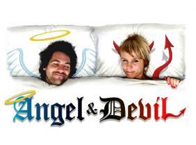Poduszka Anioł i Diabeł