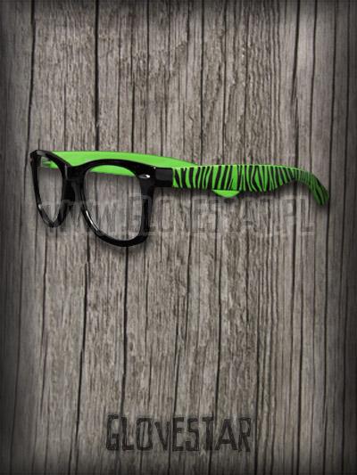 Okulary Zebry Nerd Green : Glovestar
