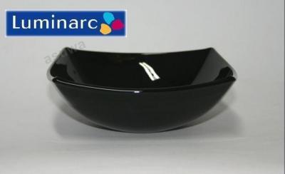 QUADRATO Salaterka czarna 14 cm miseczka Luminarc