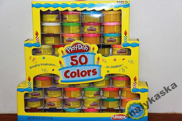 Play-Doh 50 kolorow TORT URODZINOWY