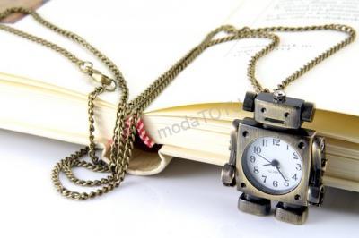 modatotu Naszyjnik zegarek ROBOT retro HIT 7044