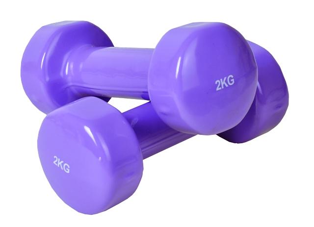 Ciężarki do ćwiczeń kolorowe 2 kg