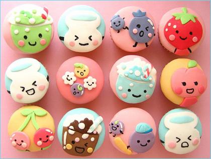 kawaiiiiii cupcakes :D