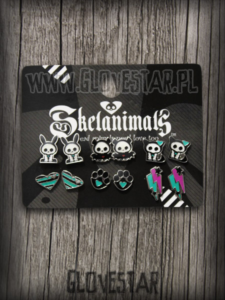 Kolczyki Skelanimals