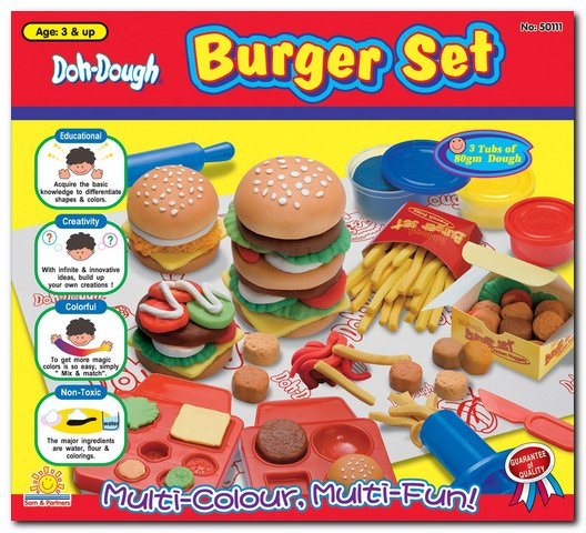 Ciastolina, zestaw HAMBURGER, zabawki