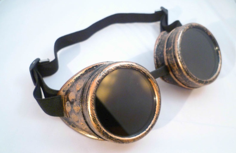 COPPER CYBER GOGGLES STEAMPUNK